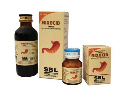 SBL Homeopathy Nixocid Tablets for Acidity Heartburn & Flatulence