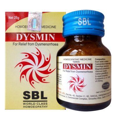 SBL Homeopathy Dysmin Tablets for Dysmenorrhoea