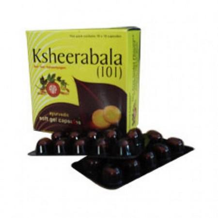 Arya Vaidya Pharmacy Ksheerabala 101 Ayurvedic Soft Gel Capsules
