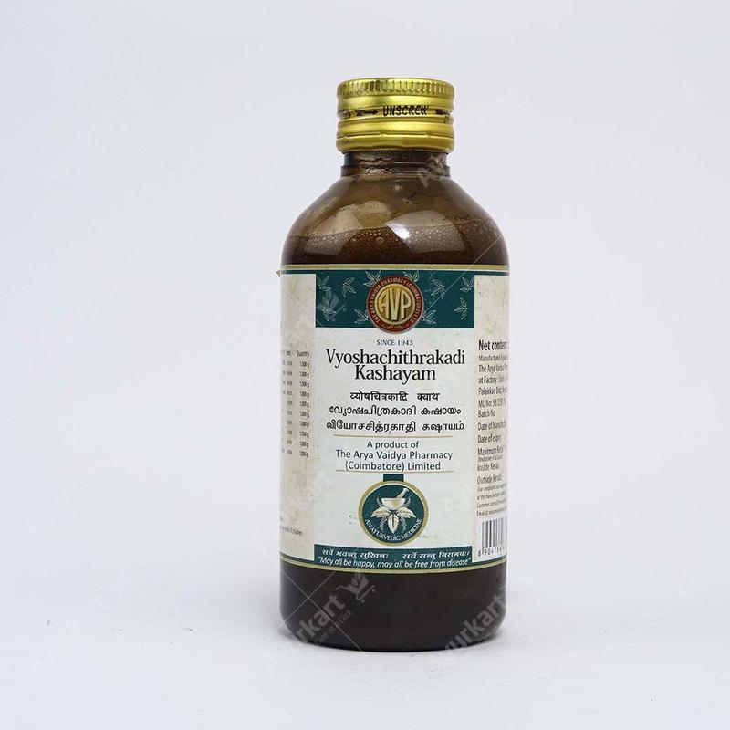 Arya Vaidya Pharmacy Vyoshachitrakadi Kashayam