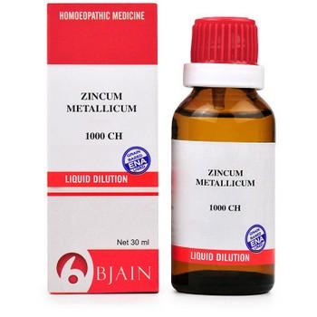 B Jain Zincum Metallicum 1000 CH Dilution