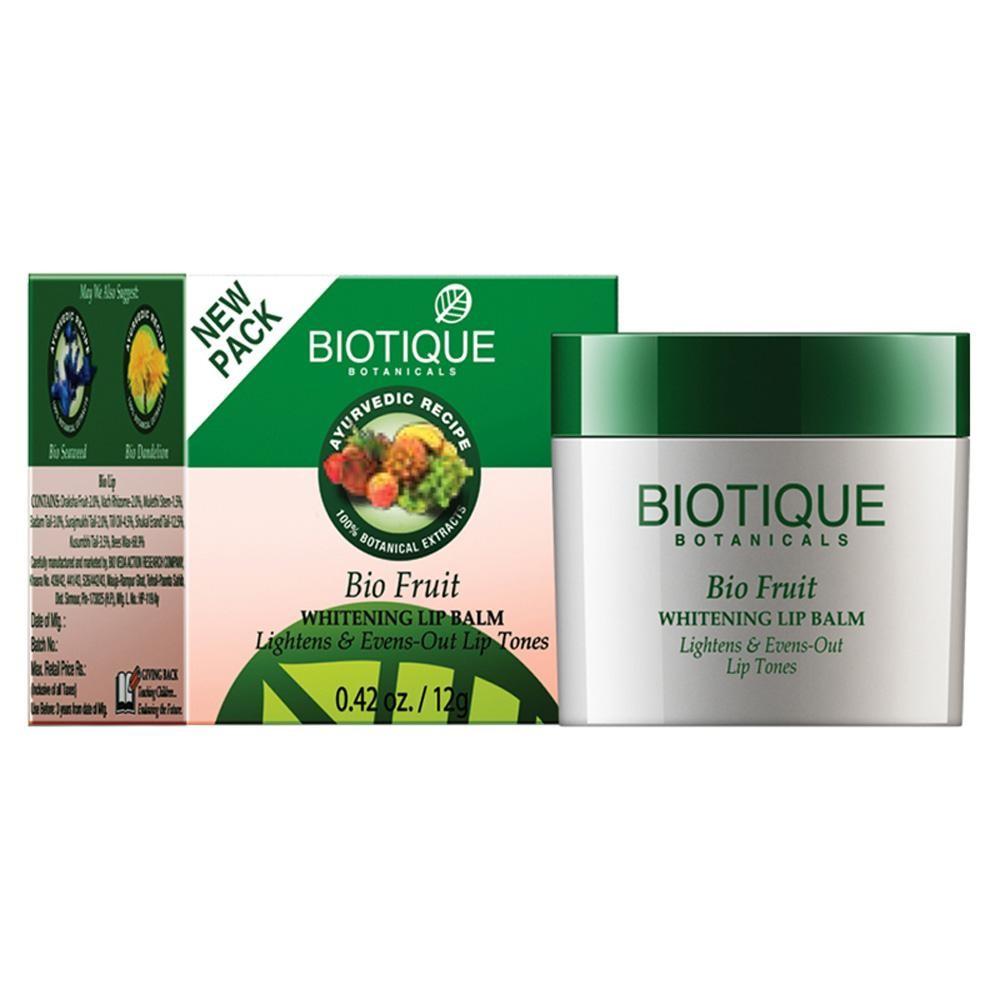 Biotique Bio Fruit Whitening Lip Balm Lightens and Evens Out Lip Tones
