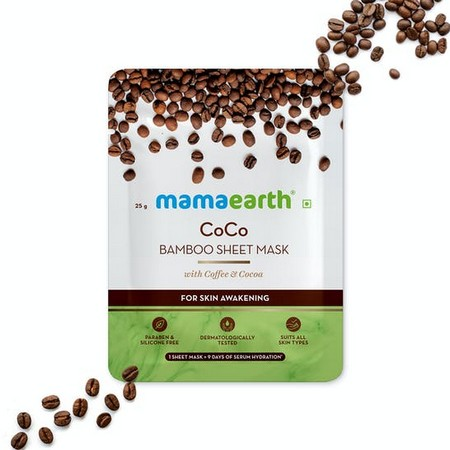 Mamaearth CoCo Bamboo Sheet Mask with Coffee and Cocoa