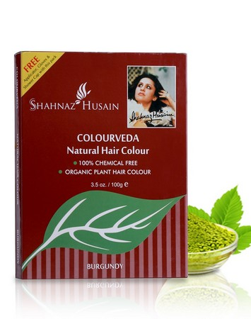 Shahnaz Husain Colourveda Natural Hair Colour - Burgundy