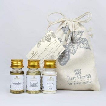 Just Herbs Ayurvedic Frizzy or dry Hair Trial Kit
