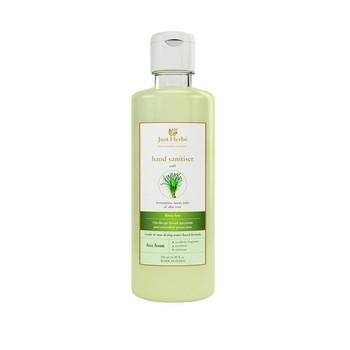 Just Herbs Hand Sanitiser Liquid with Lemongrass Neem Tulsi and Aloe Vera