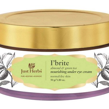 Just Herbs I Brite Almond Green Tea Nourishing Under Eye Night Cream