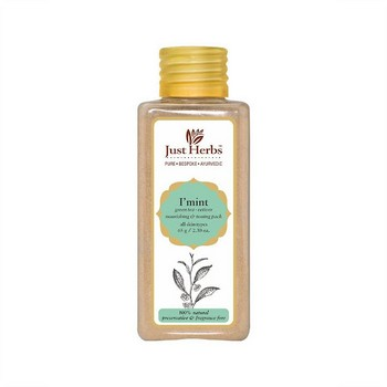 Just Herbs I Mint Green Tea Vetiver Nourishing And Toning Pack