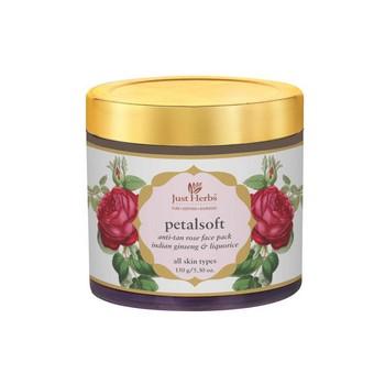 Just Herbs PetalSoft Anti Tan Rose Face Pack