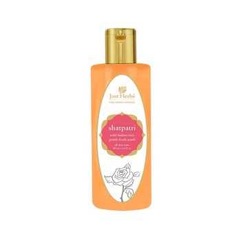 Just Herbs Shatpatri Wild Indian Rose Body Wash