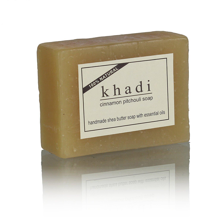 Khadi Cinnamon Pitchouli Soap