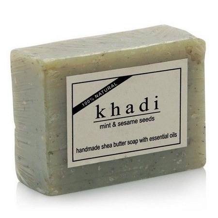 Khadi Mint And Sesame Seeds Soap