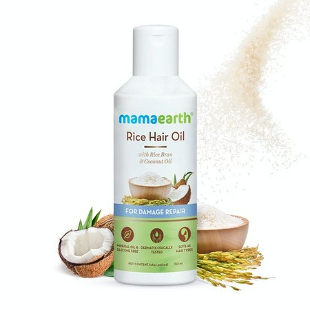 Mamaearth Rice Hair Oil