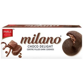 Parle Milano Centre Filled Dark Cookies Choco Delight