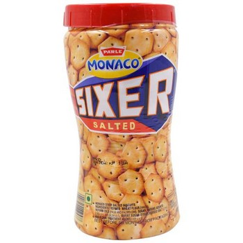 Parle Sixer Biscuits Salted Jar