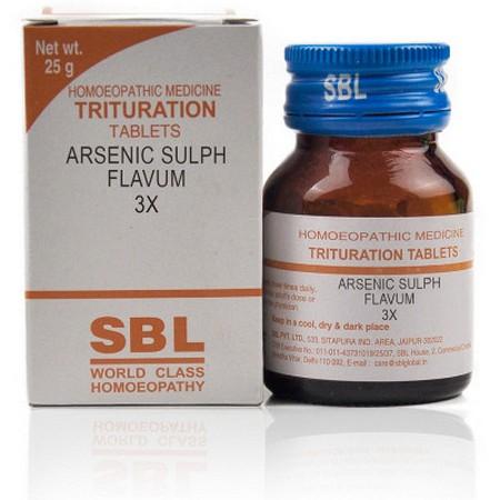 SBL Arsenic Sulphuratum Flavum 3X