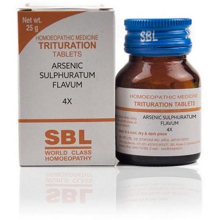 SBL Arsenic Sulphuratum Flavum 4X