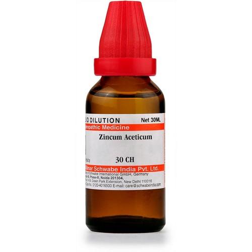 Schwabe Zincum Aceticum 30 CH Dilutions