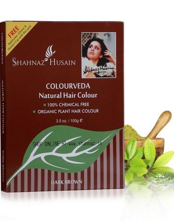 Shahnaz Husain Colourveda Natural Hair Colour Dark Brown