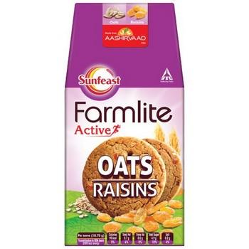 Sunfeast Farmlite Biscuit Cookies Oats and Raisins