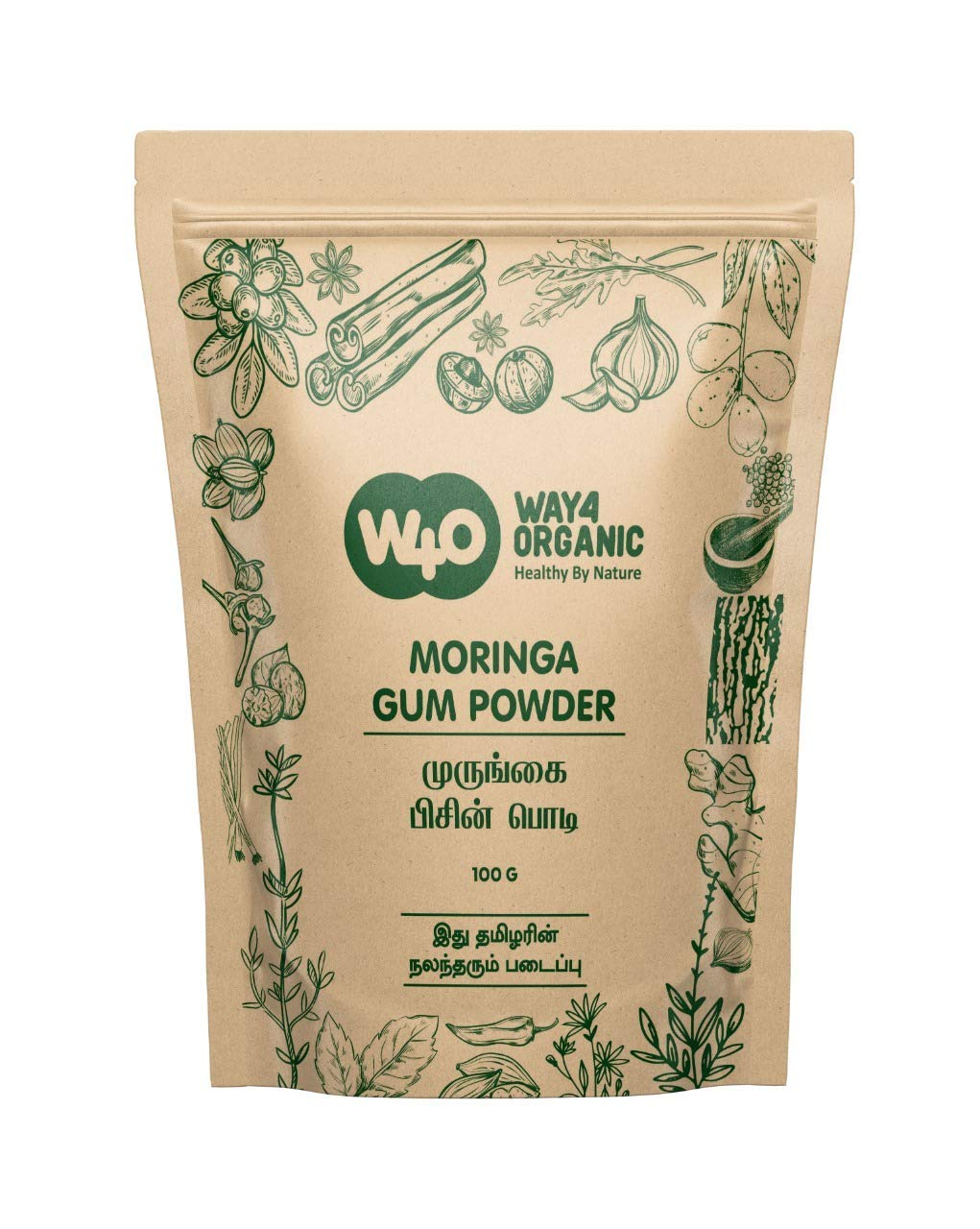 Way4Organic Moringa Gum Powder