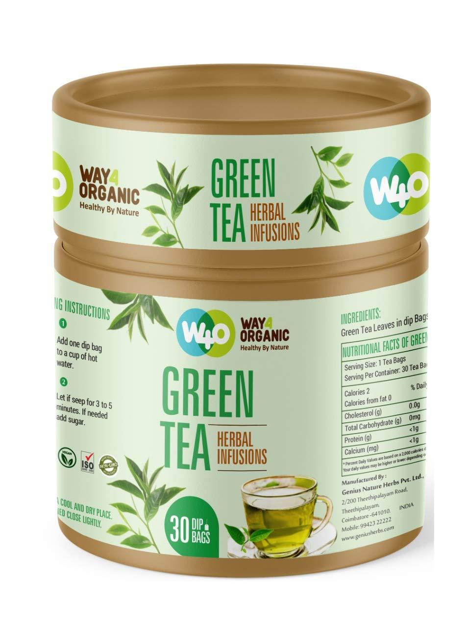 Way4Organic Premium Green Tea in Dip bags 30s