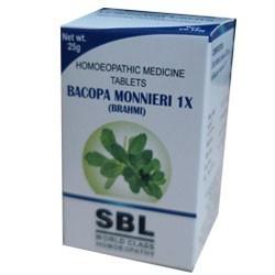 SBL Homeopathy Bacopa Monnieri 1X Brahmi Tablets
