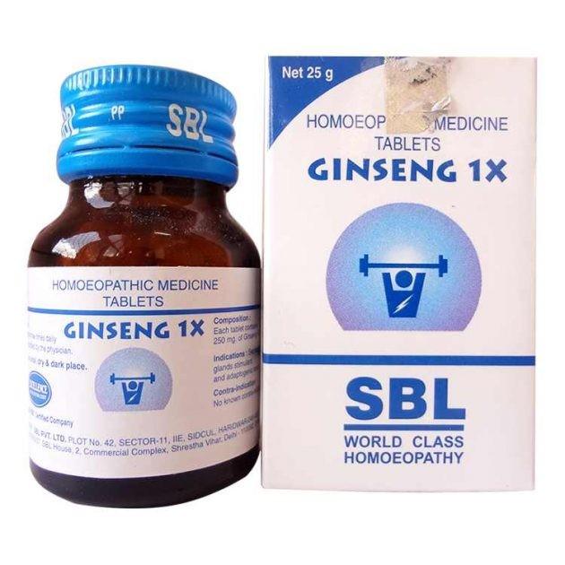 SBL Homeopathy Ginseng 1X Tablets