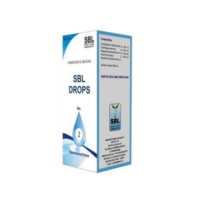 SBL Homeopathy Drops No 2 Dysmenorrhoea