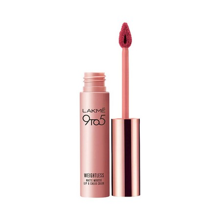 Lakme 9 to 5 Weightless Mousse Lip and Cheek Color Plum Feather 9 grams