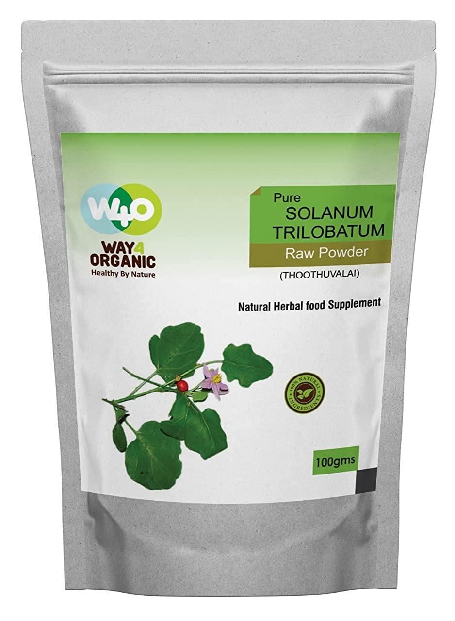 Way4Organic Pure Solanum Trilobatum Leaf Powder Thoothuvalai ilai
